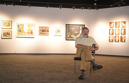 Jim Draper, UNF instructor and curator of the UNF Gallery of Art