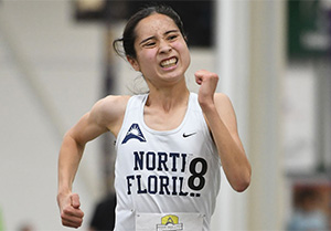 UNF student Eden Meyer running hard for the record