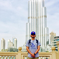 UNF student on a study abroad in Dubai
