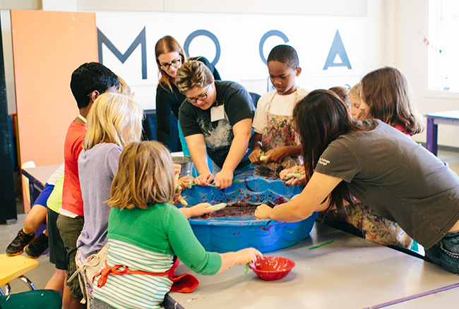 MOCA Jacksonville: children creating art together