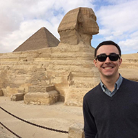 UNF student, Warren Butler, in Egypt on study abroad
