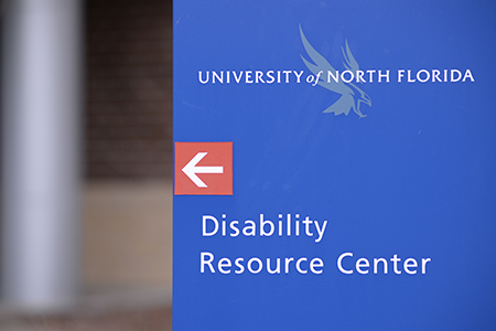 Disability Resource Center sign on campus