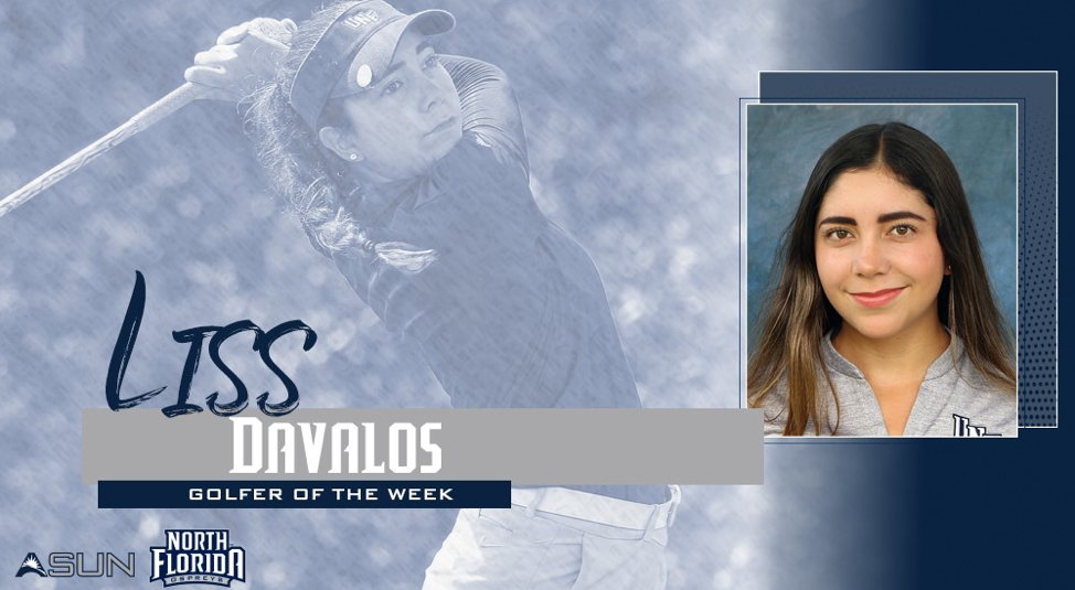Liss Davalos Golfer and text Golfer of the week