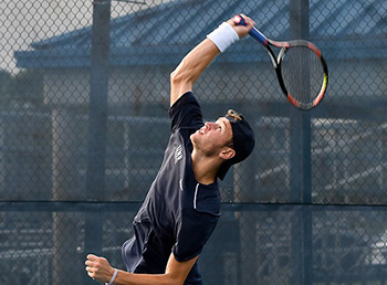 UNF men's tennis player ready to serve