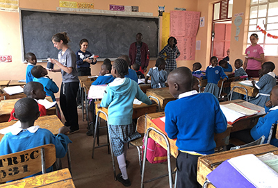 Nursing students helping in Kenya