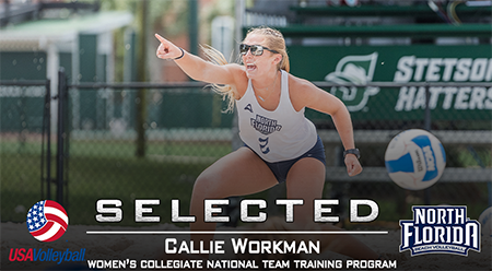 Beach volleyball player Callie Workman selected for US Women's Collegiate National Team Training