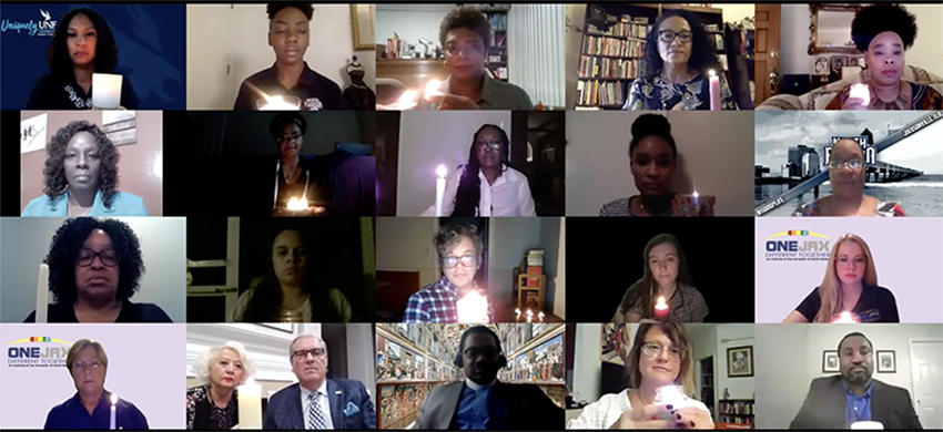 Virtual Vigil participants on Zoom