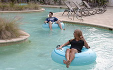 Sara Walsh in the lazy river at the UNF Fountains