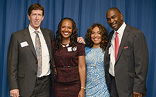 Mark O'Mara, JeffriAnne Wilder and others at an event hosted by the Institute on the Study of Race