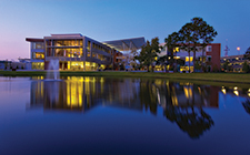 University of North Florida's Student Union at sunset