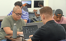 Students in Cybersecurity Lab