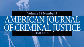 American Journal of Criminal Justice front page cover