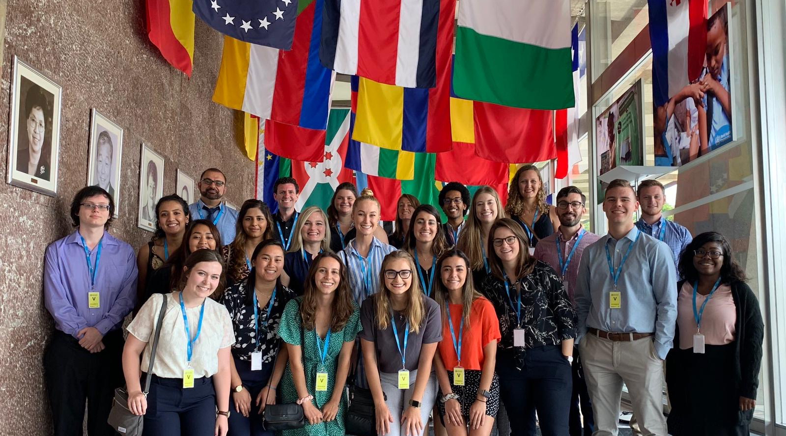 Students and faculty gathered at World Health Organization