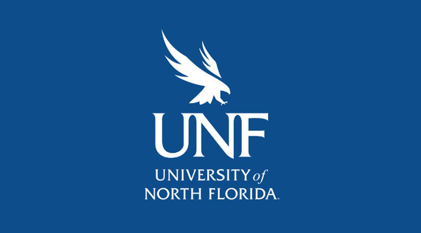 UNF logo on a dark blue background