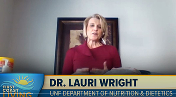 Dr. Lauri Wright live on the television program - First Coast Living