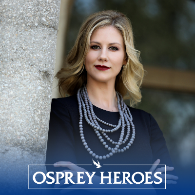 Kaitlyn Chana headshot with Osprey Heroes logo