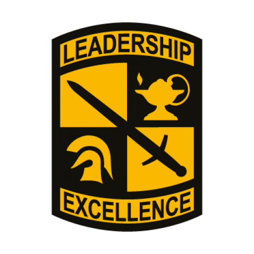Black and gold Leadership Excellence R.O.T.C. Crest