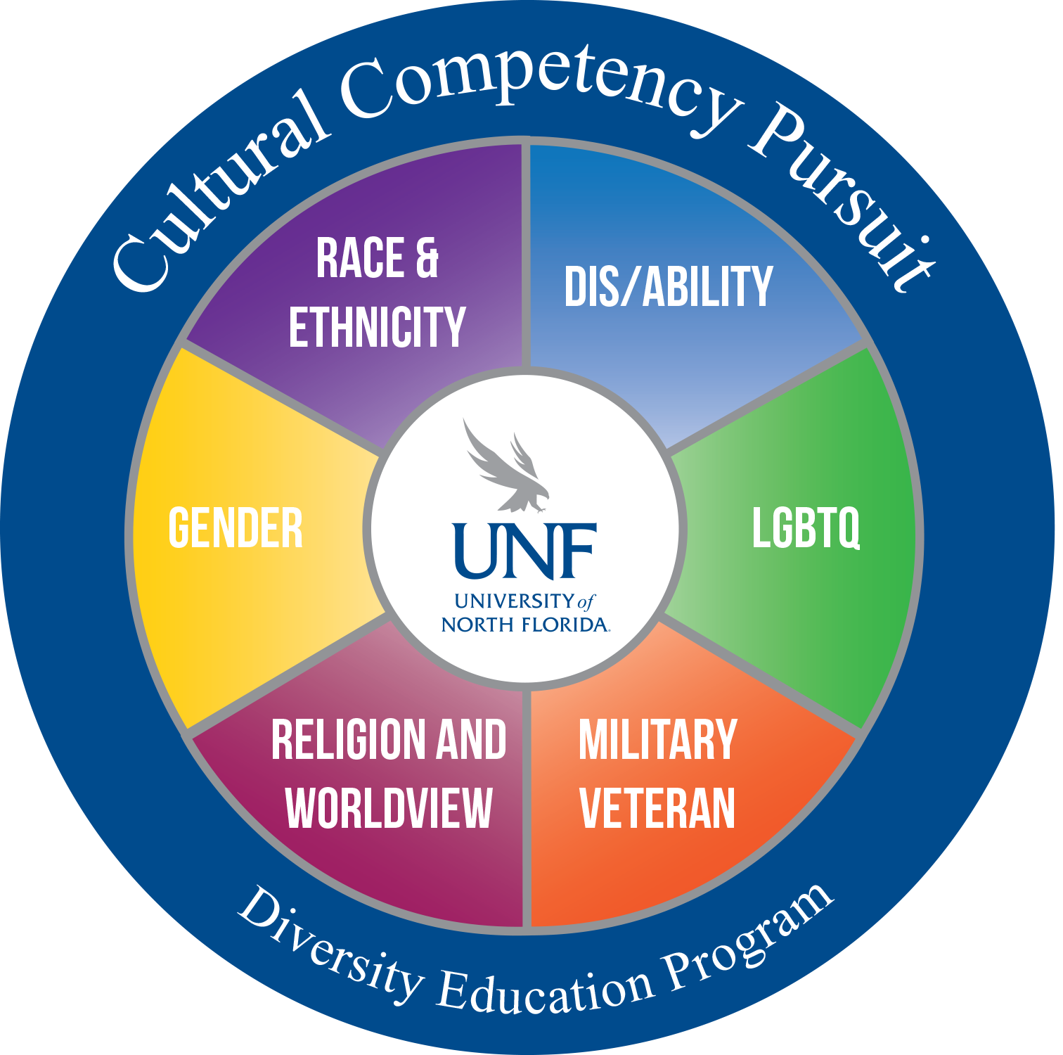 Cultural Competency Pursuit wheel with courses