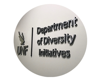 Department of Diversity Initiatives office sign