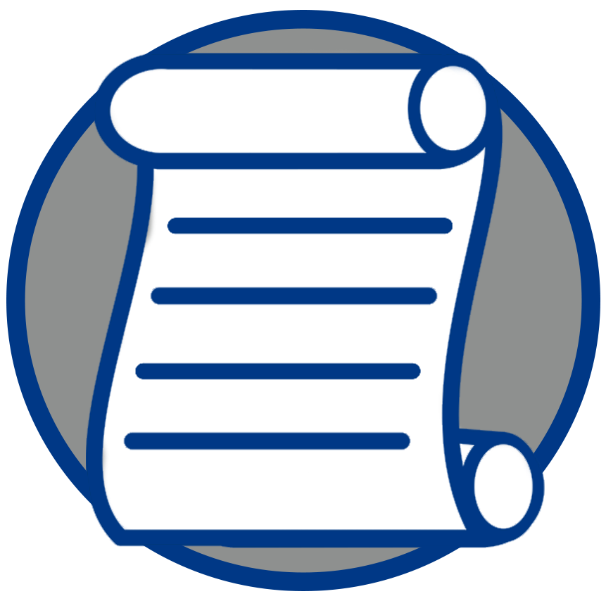 Policy Icon - scroll of paper