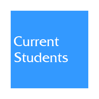 Blue box web link to Current Students information