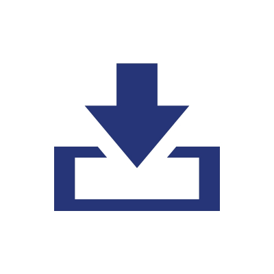 blue arrow pointing at a box illustration