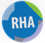 RHA Icon blue based colorful circle with purple and green inside with the letters RHA inside
