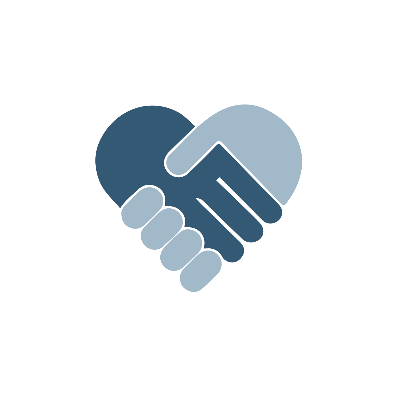 Healthy Relationships UNF blue handshake icon
