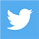 Light blue Twitter icon link with white bird inside