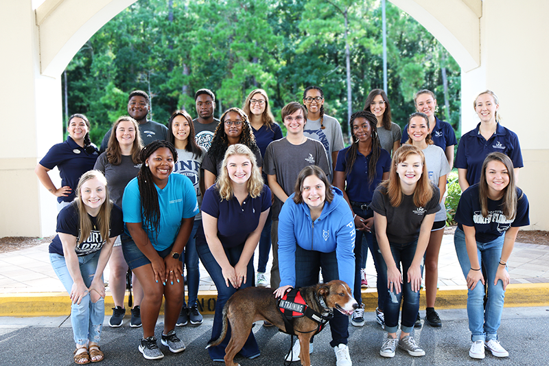 Osprey Cove resident Student staff members