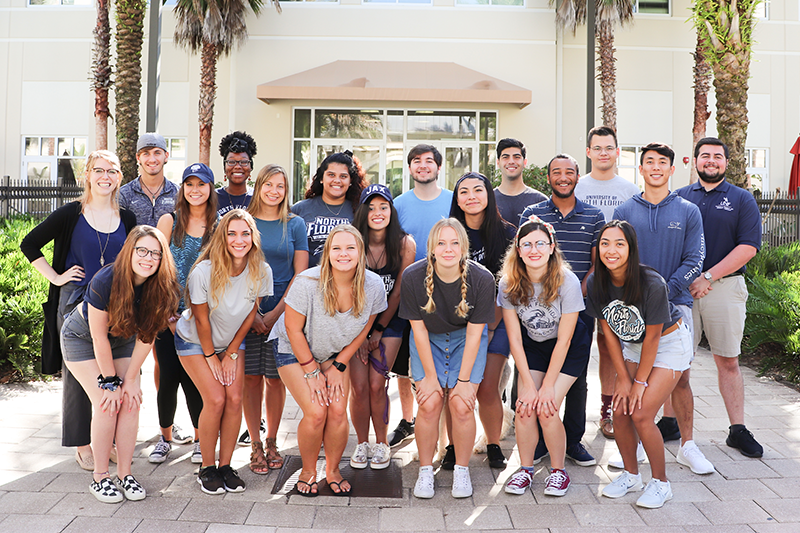 Osprey Crossings student staff members smiling together