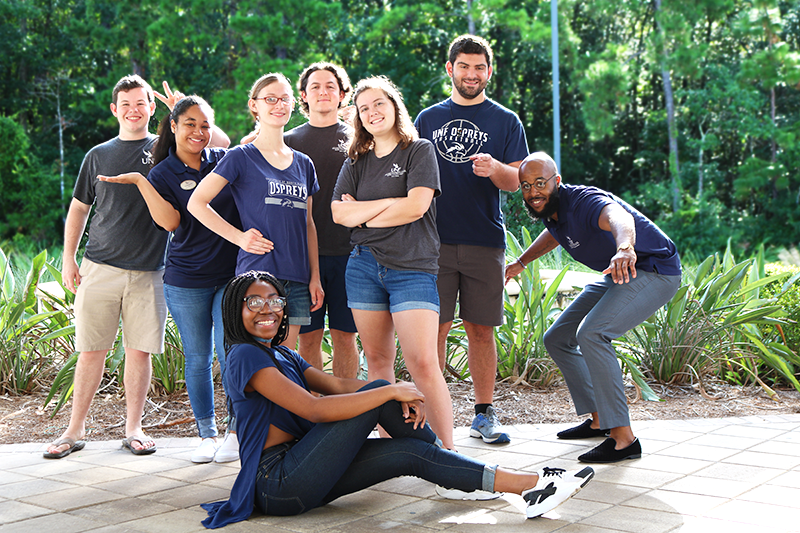 Osprey Hall student staff residents of Spring 2018