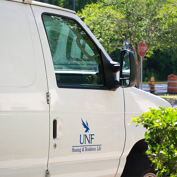 housing and residence Life maintenance van