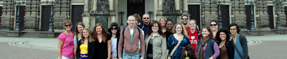 study abroad group in Prague
