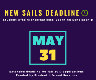 SAILS deadline for Fall 2017 trips