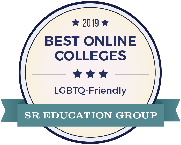 2019 Best Online College - LGBTQ friendly badge
