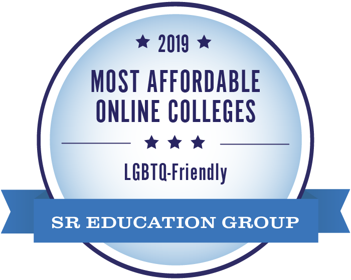 2019 Most Affordable Online college badge