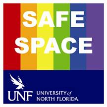 UNF Safe Space Sticker