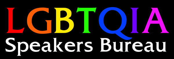 LGBTQIA speakers bureau logo