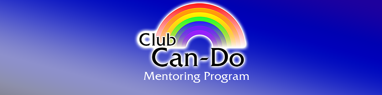 Club Can-Do logo on a blue background