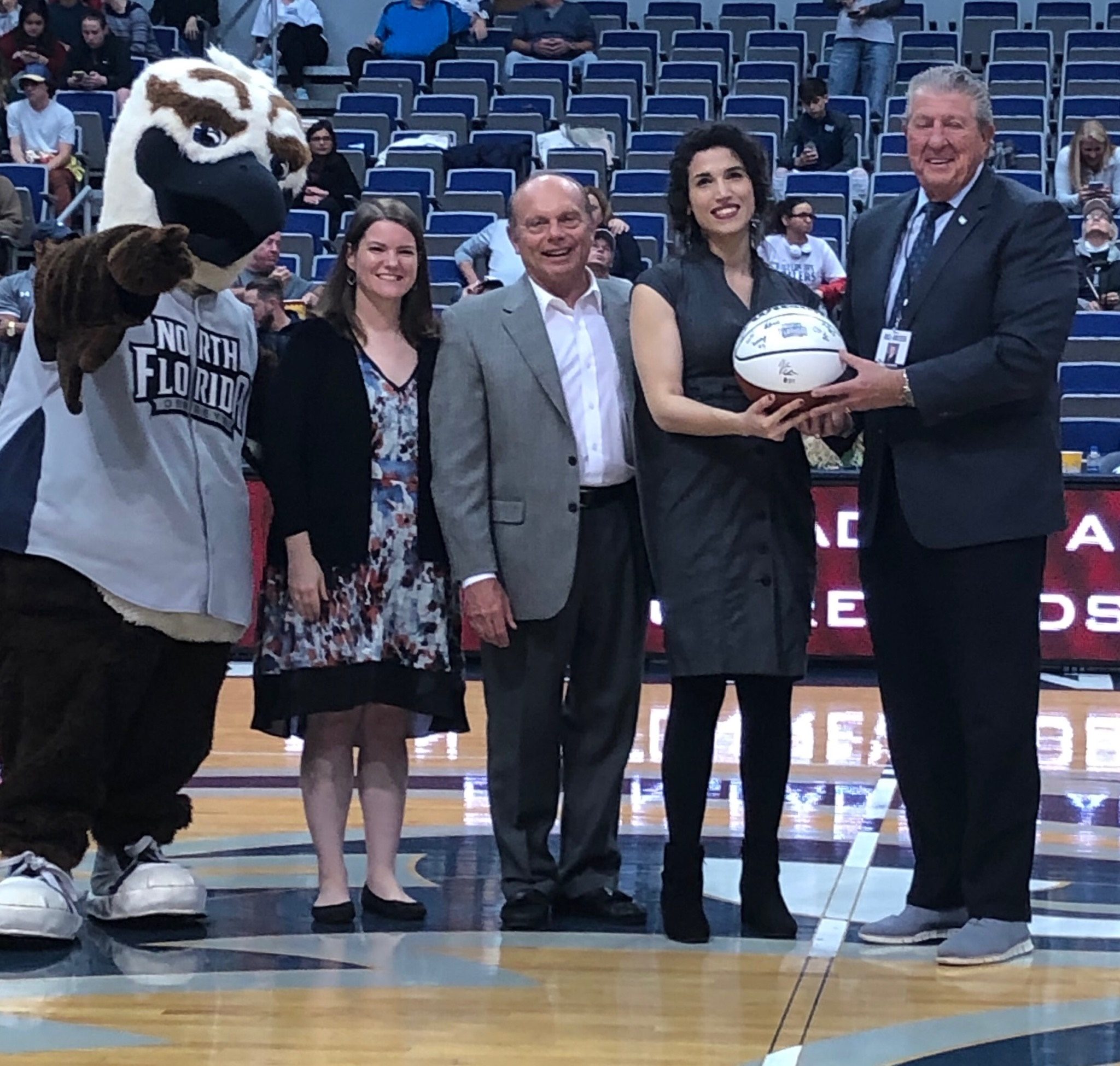 Josselyn Munoz presented with Student of the Year award 2019 on the basketball court