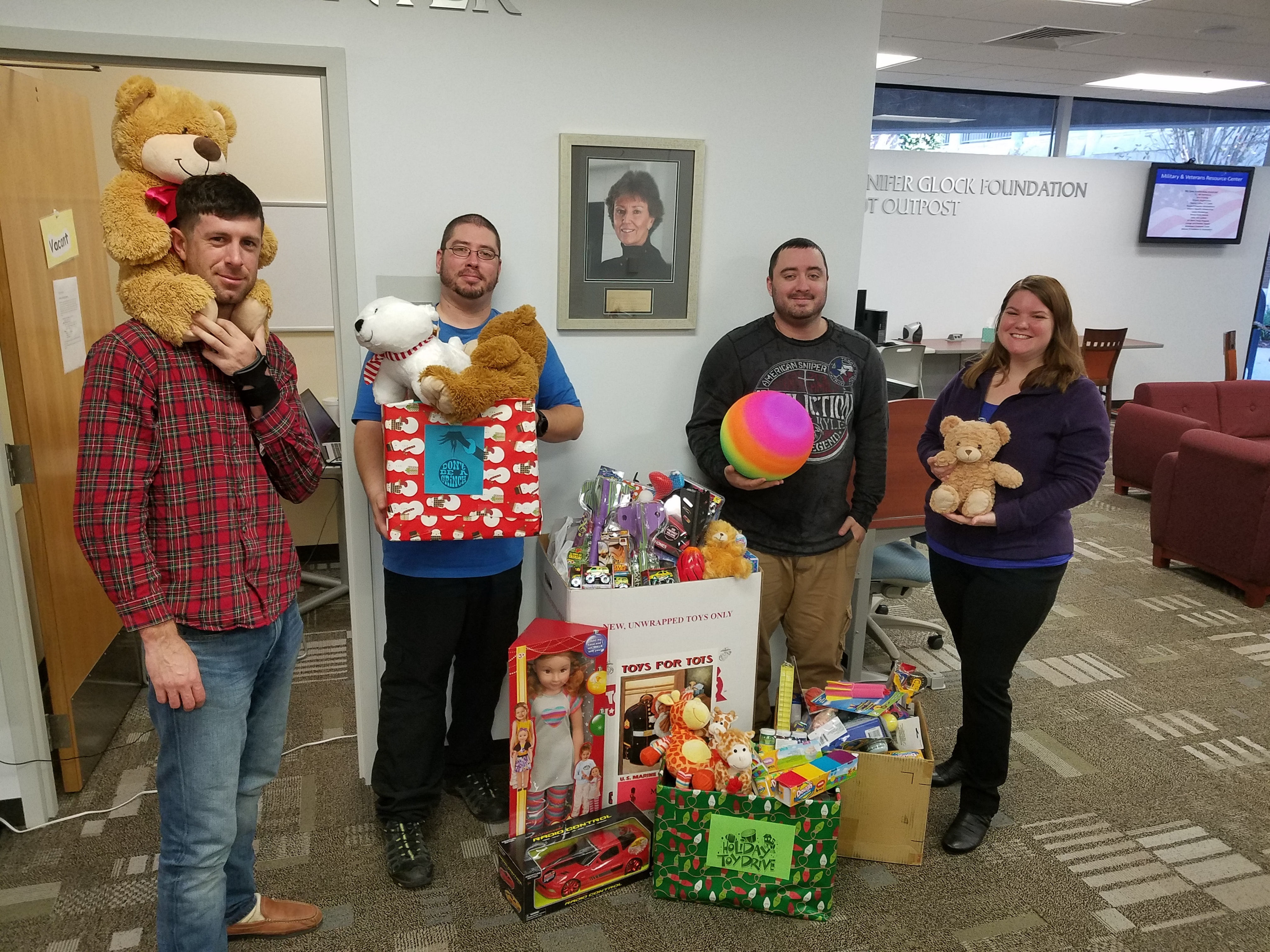 Toy donations collected by students
