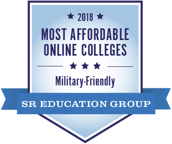most affordable online colleges military friendly logo