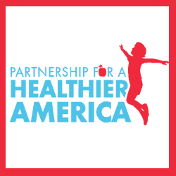 Partnership for a Healthier America- with an animated child jumping