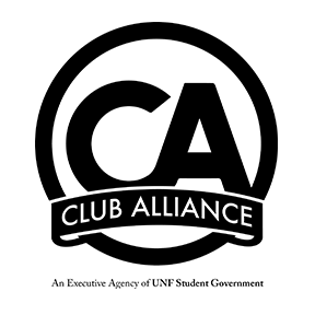 club alliance logo - an executive agency of UNF Student Government