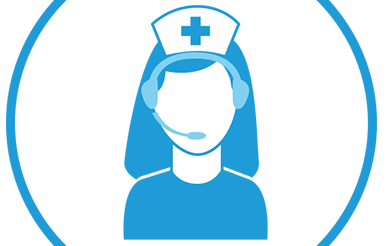 Illustration of a Nurse with a headset