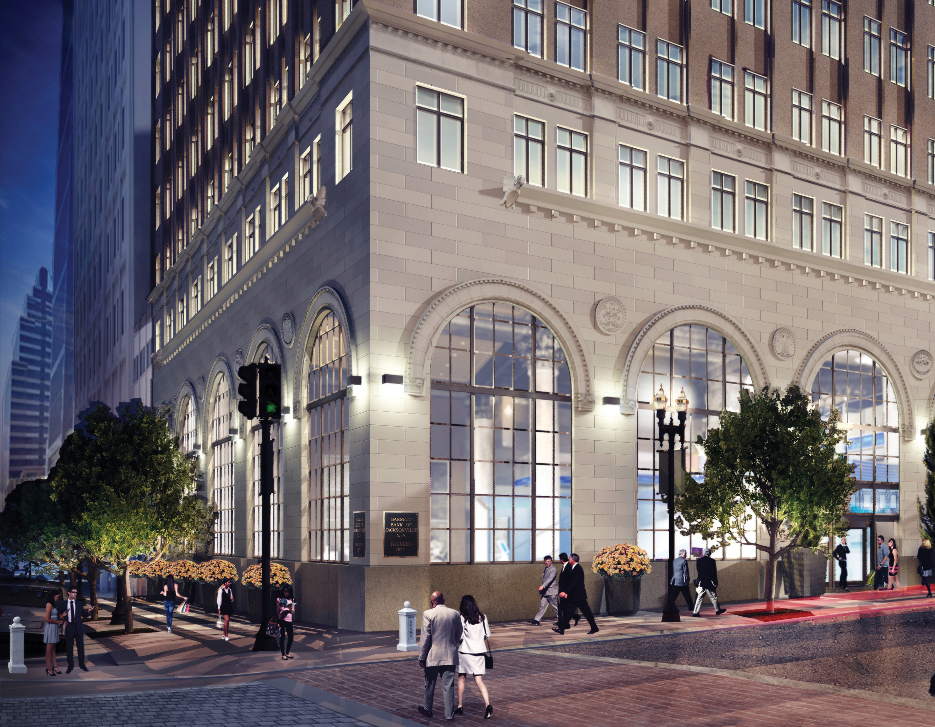 A rendering of the exterior of the new Center for Entrepreneurship that will be located in downtown Jacksonville